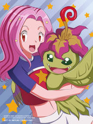 Digimon_Mimi_and_Palmon by Miyuki-Tsukiyono