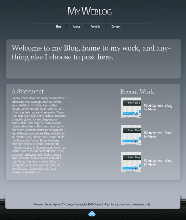 Wordpress Theme 2 by Chasethebase