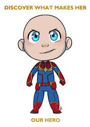 COMM CHIBI: Captain Baby Marvel for lalor by ZannyHyper