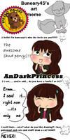 .:Buneary45 art meme:. by AnDarkPrincess