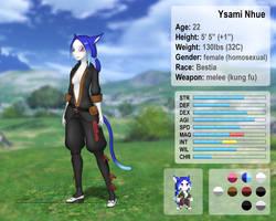 Ysami Nhue character sheet by Nakate