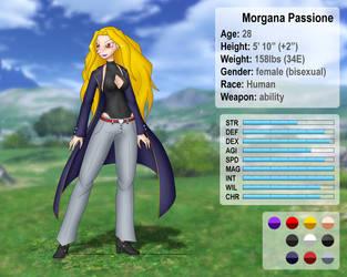 Morgana Passione character sheet by Nakate