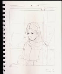 Girl in  Bus by worapol