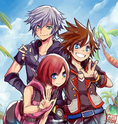 Kingdom Hearts 3 by Gurepyon