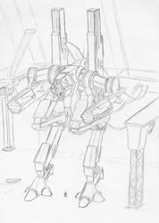 Mech  Sketch - Arthemis by MechWarriorsClub
