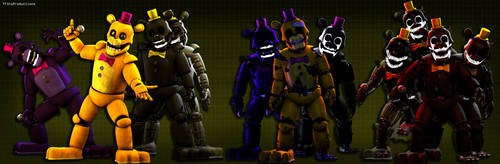 J is for Junk - Fredbear 3D Model Completed by TF541Productions