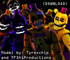 J is for Junk - Fredbear 3D Model Release (SFM) by TF541Productions