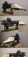 Firestorm-class Frigate Warhammer40k papercraft by BHAAD