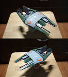 Frazi class heavy fighter. Paper model by BHAAD