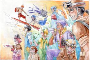 Pokemon Gijinka - Let's finish our job! by Mitsuyuki32