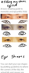the all expansive 'asian' eye drawing guidei by casetrippy