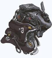 MEch head - robotic helmet by Bulygin