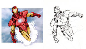 Iron Man Con Sketch- Pencils/Inks and Colors by Kminor