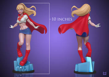 Digital Concept: Supergirl Statue by UsmanHayat