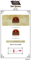 Sunset Sarsaparilla Label by Whatpayne