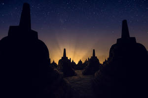 stars over the stupas by Katoman