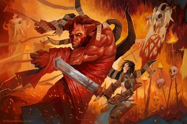 Contract Devil Fight by GuzBoroda