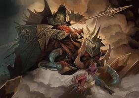Dwarf Rider by GuzBoroda