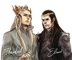 Thranduil and Elrond by itokufox