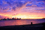 Auckland New Years Sunset 2 by wishez