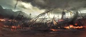 a battlefield by artcobain