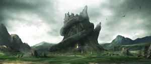 snake mountain by artcobain