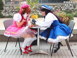 Sakura suprised by cloeth