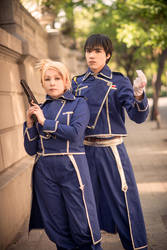 Roy and Riza by cloeth