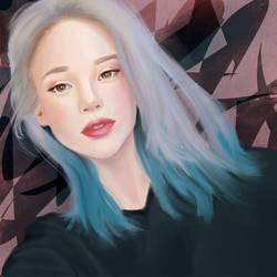 Pretty blue by JosieGitsune
