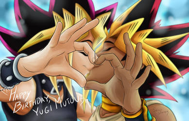 Happy Birthday Yugi 2018 by SallyVinter