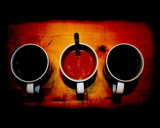 Three cups of coffee by MannaZat