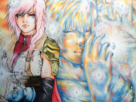 Lightning and Serah by xXMadeInHeavenXx