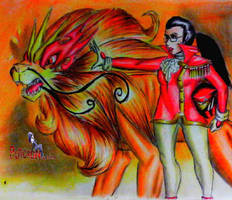 power rangers rainbown guardians red kiriin by puticron