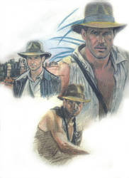 Indiana Jones collage by thorr