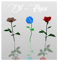 Dl - Roses For MMD by Clyriss