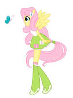 Equestria Girls Fluttershy by Colorpalette-art