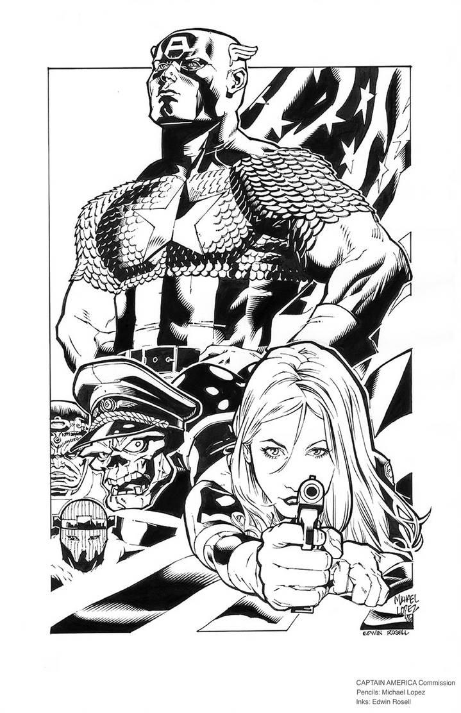 Captain America Inks by erosell