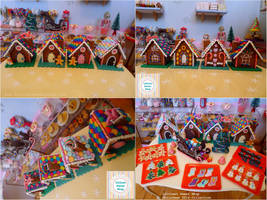 Gingerbread house details by LittlestSweetShop