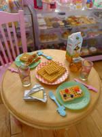 Miniature waffles for brekkie by LittlestSweetShop