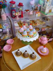Miniature Mont Blanc desserts by LittlestSweetShop