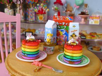 Rainbow Pancakes by LittlestSweetShop