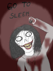 Jeff the killer drawn on iPad by Werewolf98765