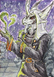 Necromancer [aceo] by DragonisLera