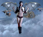 Steampunk Angel by cazcastalla