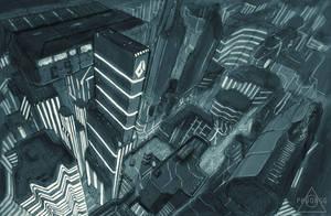 Neon city by godofchaosvn