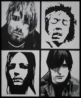Kurt, Jimi, Maynard and Trent by Hani-Filth