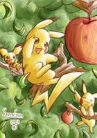 Pikachu's Tree by SaiyaGina
