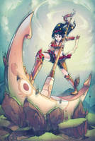 FEZ - Moon Warrior by SaiyaGina