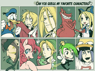 Can you guess my fav charas? by SaiyaGina