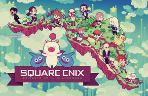 Square Enix poster trial by SaiyaGina